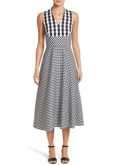 Lafayette 148 New York Adina Gingham Midi Dress