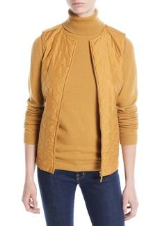 Lafayette 148 New York Adiva Zip-Front Drawstring-Waist Vest