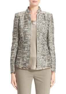 Lafayette 148 New York 'Adley' Stand Collar Jacquard Jacket