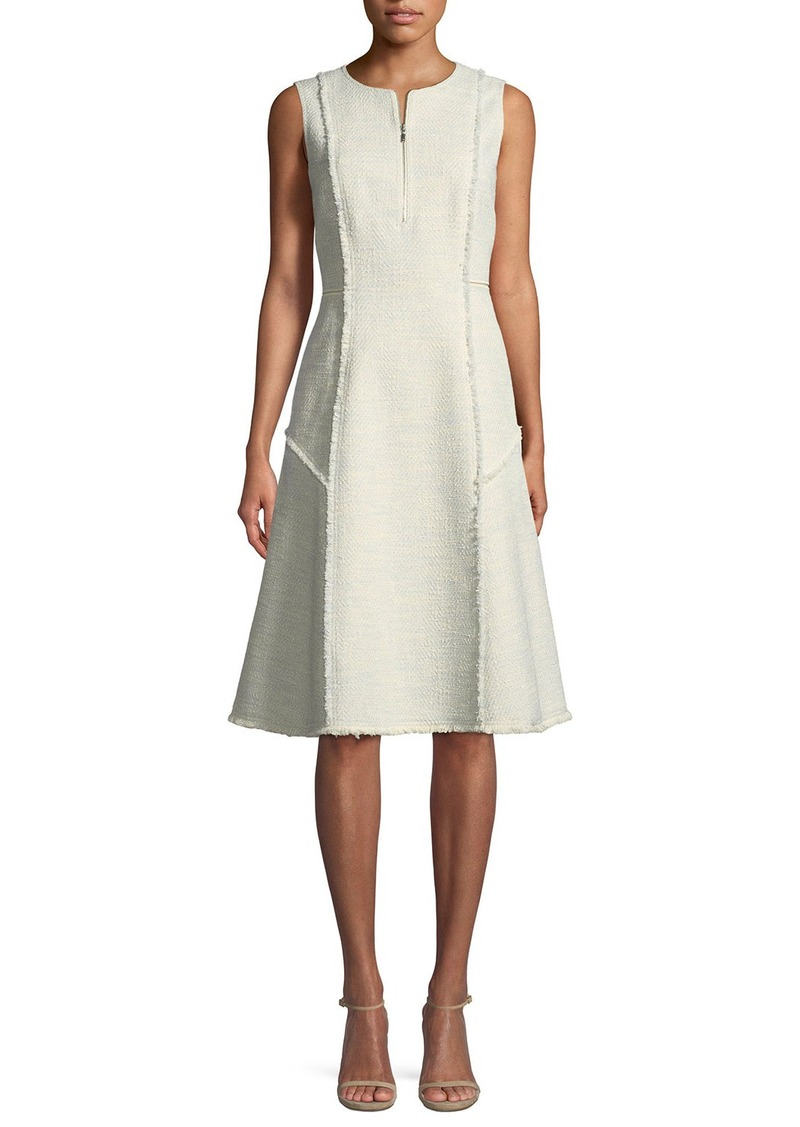Lafayette 148 New York Adrienne Morning Dew Tweed Dress