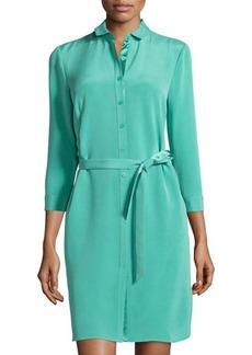 Lafayette 148 New York Agner 3/4-Sleeve Shirtdress