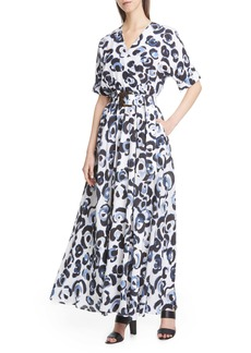 Lafayette 148 New York Agneta Belted Floral Print Maxi Dress