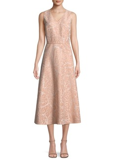 Lafayette 148 Aileen Jacquard A-Line Dress