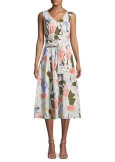 Lafayette 148 Aileen Printed Cotton Midi Dress