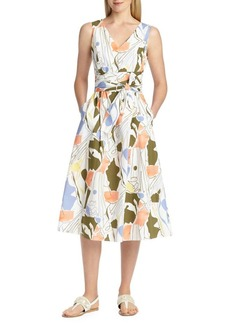 Lafayette 148 New York Aileen Printed Cotton Midi Dress