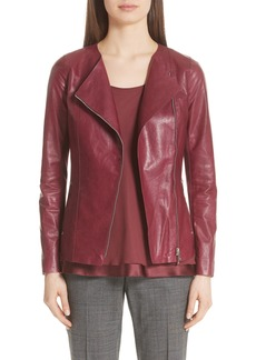 Lafayette 148 New York Aimes Leather Jacket (Nordstrom Exclusive)