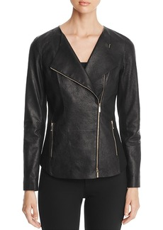 Lafayette 148 New York Aimes Leather Moto Jacket