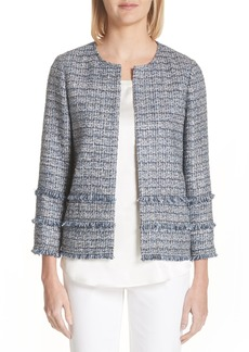 Lafayette 148 New York Aisha Exhibition Tweed Jacket