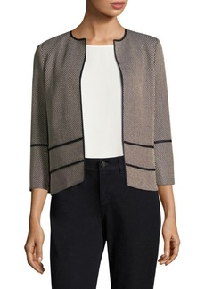 Lafayette 148 New York Aisha Textured Open Front Jacket