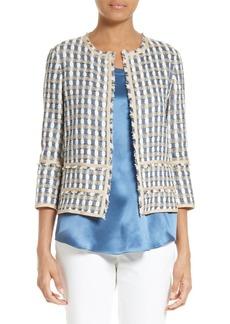 Lafayette 148 New York Aisha Playa Tweed Jacket