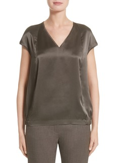 Lafayette 148 New York Aisley Luminous Cloth Blouse (Nordstrom Exclusive)