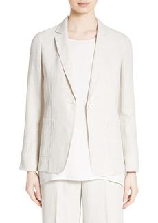 Lafayette 148 New York Alba Herringbone Linen Jacket