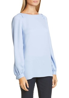 Lafayette 148 New York Albright Silk Blouse
