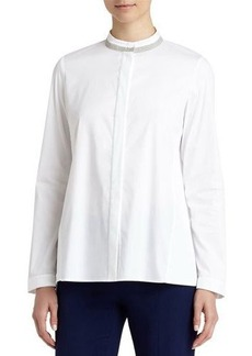 Lafayette 148 New York Alec Beaded-Trim Blouse