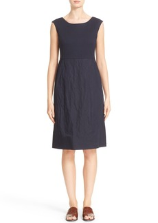 Lafayette 148 New York Aleema Ponte & Crinkle Dress