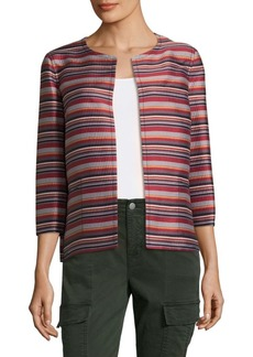 Alejandra Striped Open Front Blazer