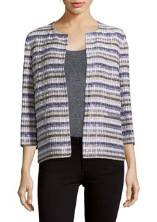 Lafayette 148 New York Alejandra Striped Open-Front Jacket