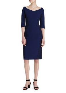 Lafayette 148 New York Alexia Lace-Trim Sheath Dress