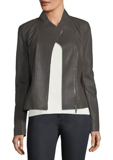Lafayette 148 Alice Weathered-Leather Jacket