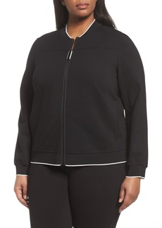 Lafayette 148 New York Alison Zip Front Jacket (Plus Size)