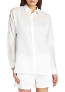 Lafayette 148 New York Alyssa Gemma Cloth Blouse