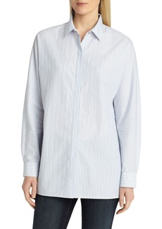 Lafayette 148 New York Alyssa Metallic Stripe Blouse