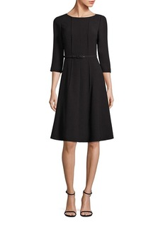 Lafayette 148 New York Amalie Belted A-Line Dress