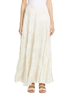 Lafayette 148 New York Ambria Fil Coupé Maxi Skirt