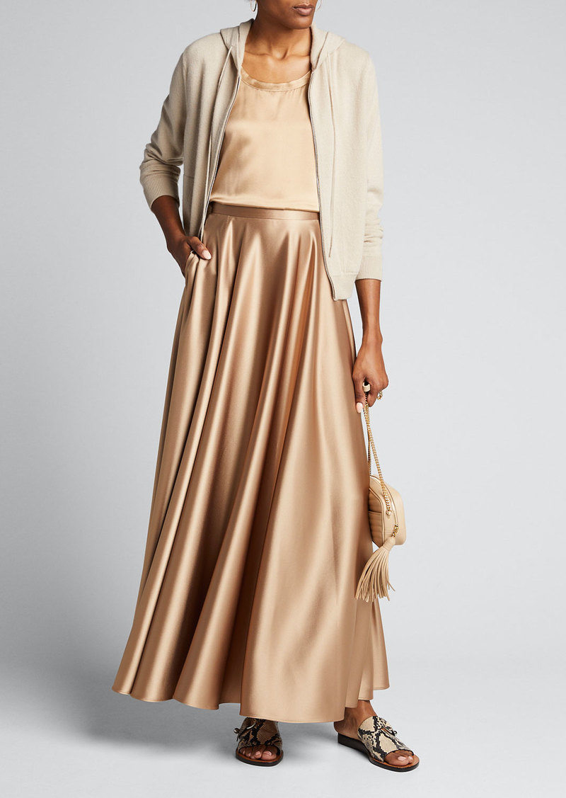 Lafayette 148 New York Ambria Long Satin Skirt
