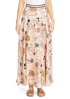 Lafayette 148 New York Ambria Print Silk Maxi Skirt