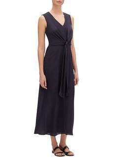 Lafayette 148 New York Ambrosia V-Neck Sleeveless Carlisle Cloth Dress