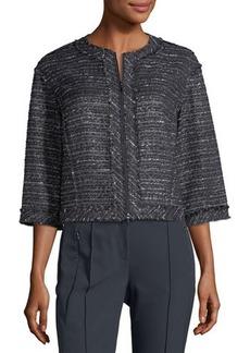 Lafayette 148 New York Amity Tweed Zip Jacket