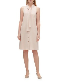 Lafayette 148 New York Amore Finesse Crepe Tie-Neck Sleeveless Dress