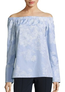 Lafayette 148 New York Amy Cotton Off-The-Shoulder Blouse