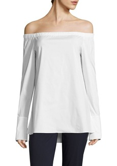 Lafayette 148 Amy Off-the-Shoulder Blouse