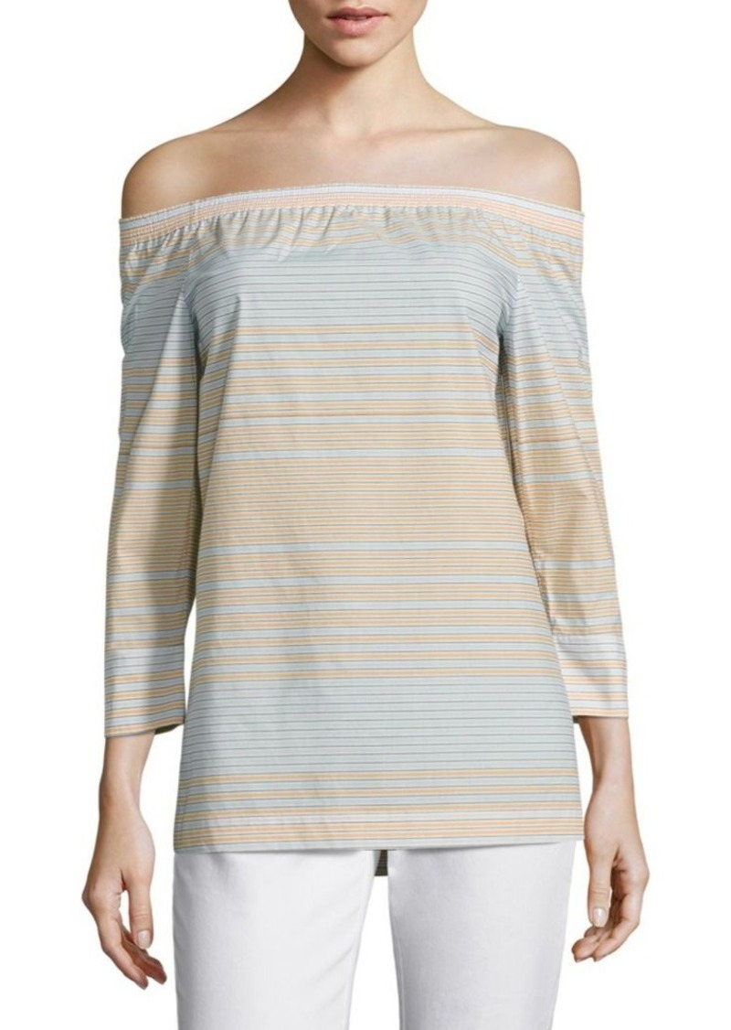 Lafayette 148 New York Amy Striped Blouse