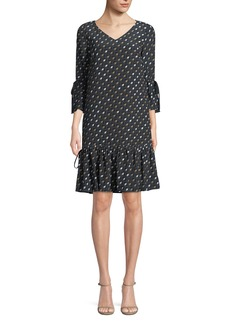 Lafayette 148 New York Ana-Grace Gliding Geo Drop-Waist Dress