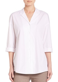 Lafayette 148 New York Analeigh Tie-Front Blouse