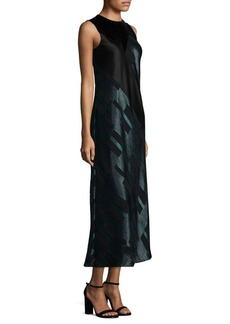 Lafayette 148 New York Andora Mixed-Media Gown
