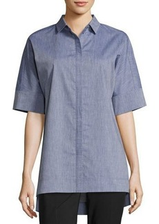 Lafayette 148 New York Andra Cotton Blouse