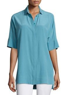 Lafayette 148 New York Andra Short-Sleeve Silk Blouse