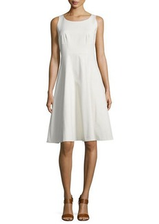 Lafayette 148 New York Angelee Sleeveless Fit & Flare Dress