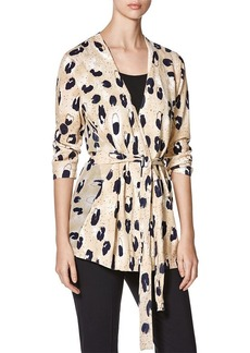 Lafayette 148 New York  Animal Print Belted Cardigan