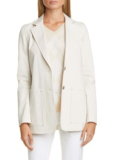 Lafayette 148 New York Annmarie Stretch Cotton Twill Jacket