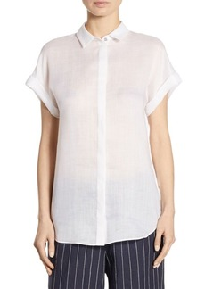 Lafayette 148 New York Antonella Chain-Trim Blouse