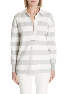 Lafayette 148 New York Antonia Stripe Rugby Shirt