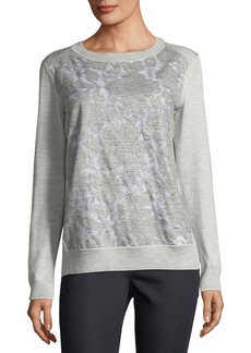 Lafayette 148 Aralynn Floral Fil Coupe Jersey Top