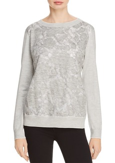 Lafayette 148 New York Aralynn Silk-Embellished Sweater