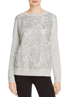 Lafayette 148 New York Aralynn Silk-Embellished Sweater