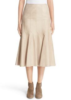 Lafayette 148 New York 'Aria' Lambskin Leather Skirt